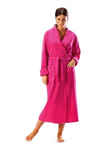 Womens Bathrobe Cotton Long Terry Towelling Dressing Gown ...