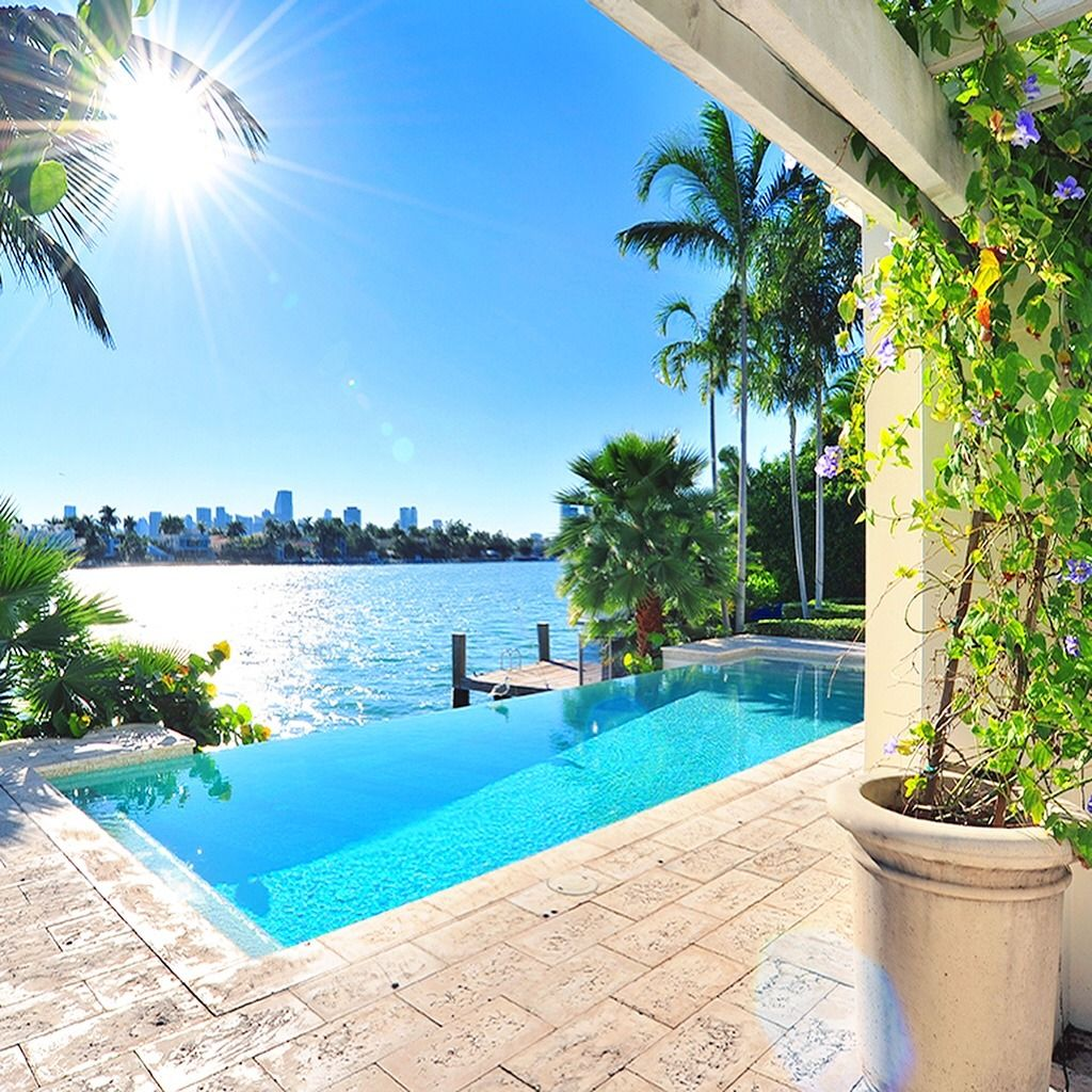 Florida Luxury Pools Atlantic Beach: Palazzo Del Sol, Fisher Island, Florida By Joan's Homes