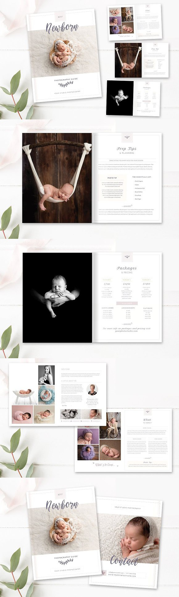 Newborn Welcome Guide 10 Pages INDD. Magazine Templates | Magazine ...
