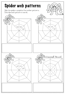 Math Spider Web Number Patterns