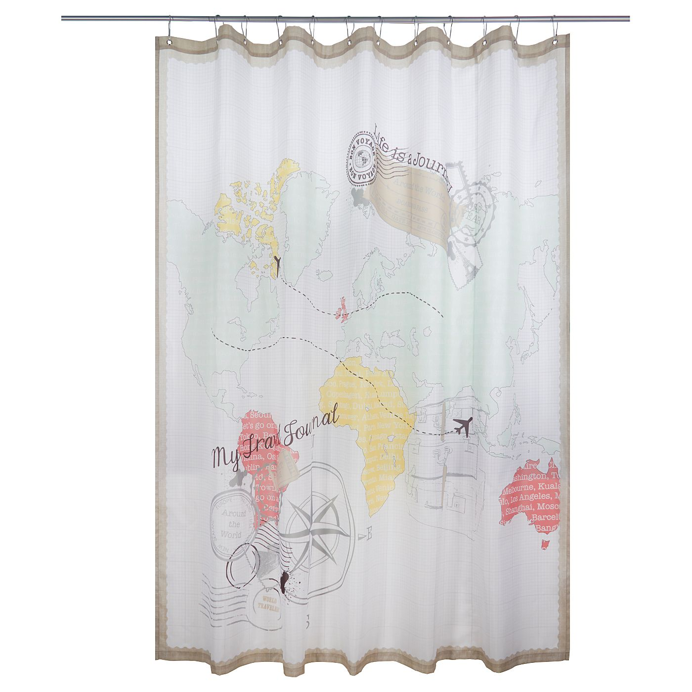 George Home World Map Shower Curtain | Shower Curtains | ASDA Direct. World  MapsShower CurtainsBathroom Accessories