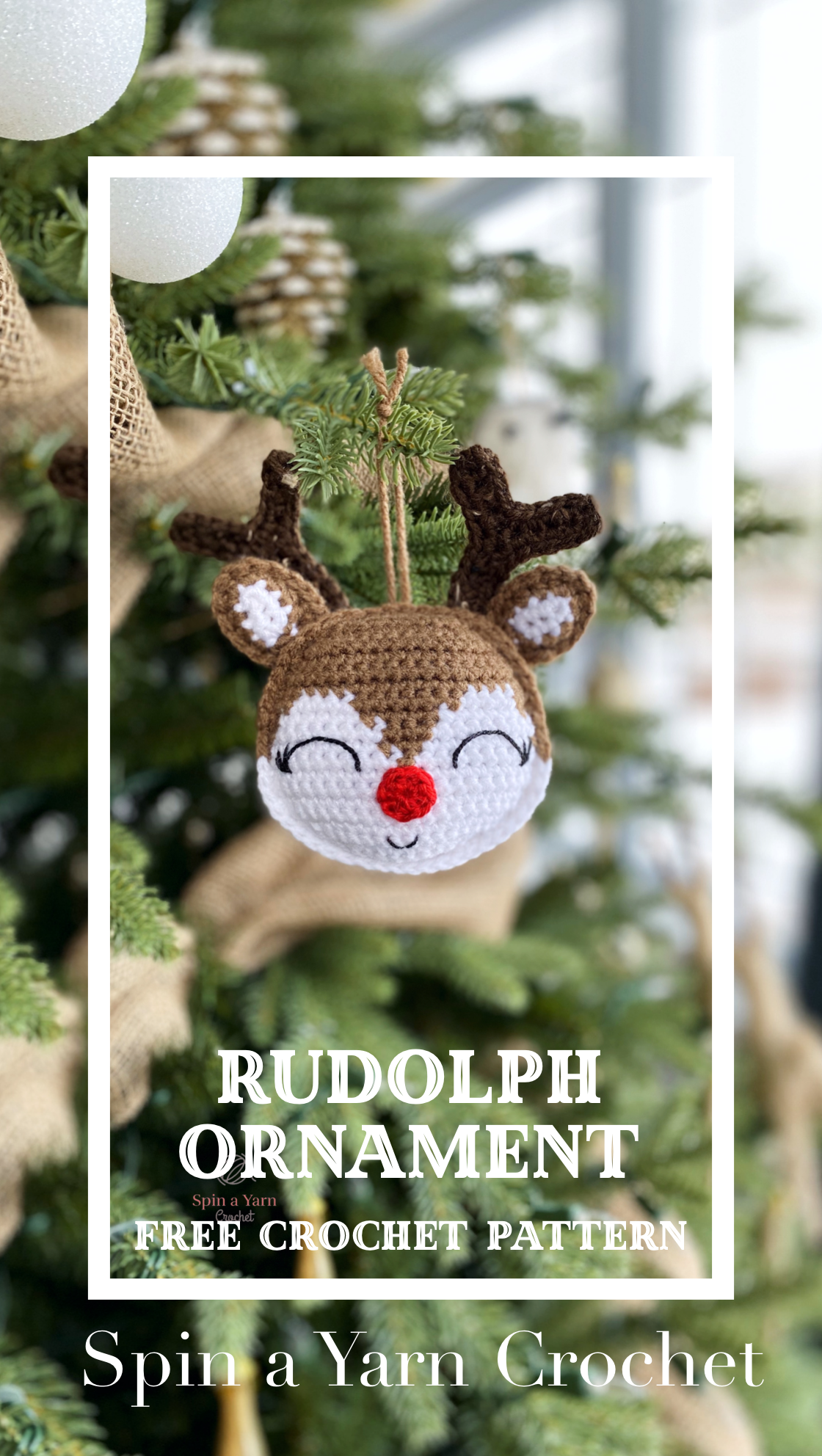 Rudolph Ornament #crochethooks