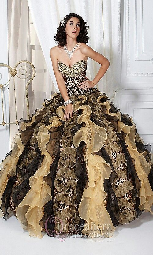 Awsome Leopard Print Wedding Dress