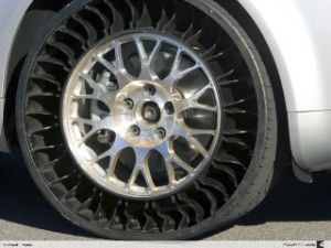 New Michelin Tires With No Air And Valve Stems