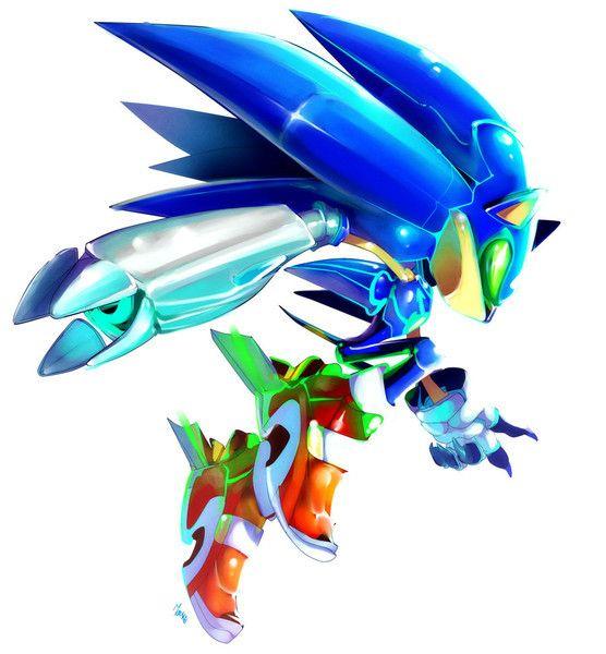 Metal Sonic X | Epic Characters | Sonic art, Sonic the