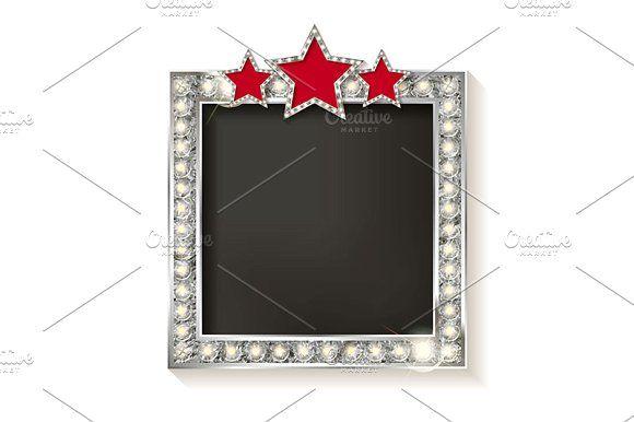 4 Silver square blank cinema by nastyaaroma on @creativemarket