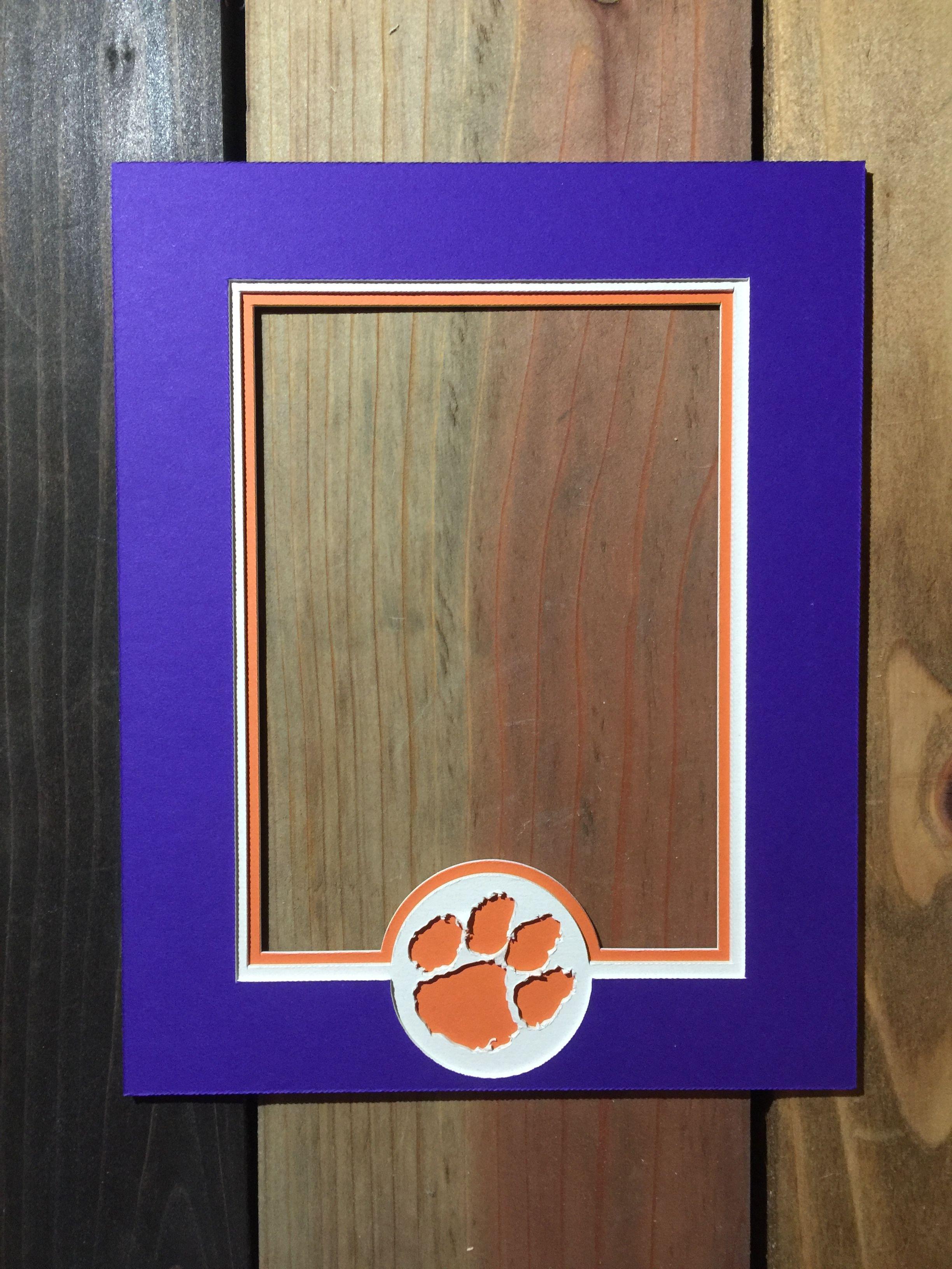 picture mats pin custom clemson for photo frame mat frames tigers
