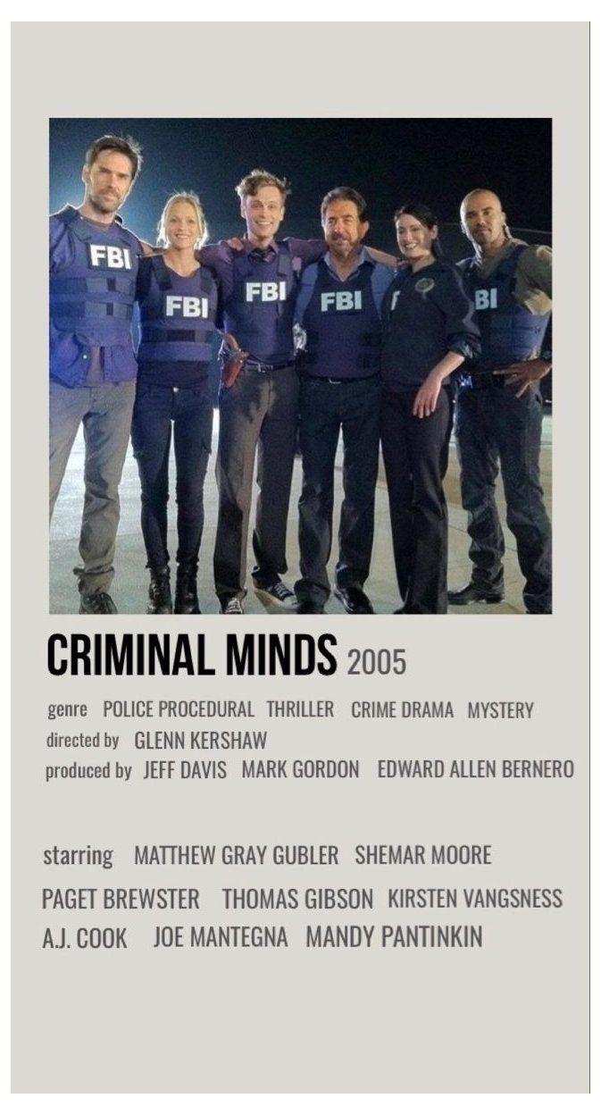 criminal minds minimalist poster