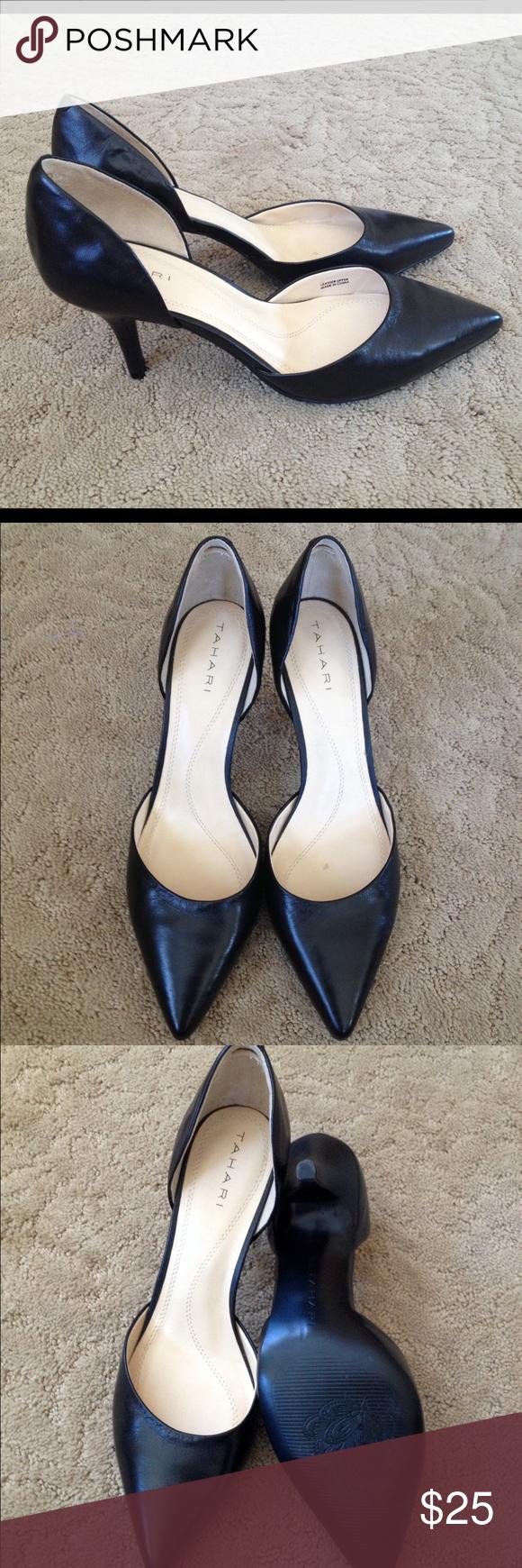 """Tahari Coco Black Kitten Heels Very good condition. Leather upper. Heel hight approx 2.5"""". Tahari Shoes Heels"""