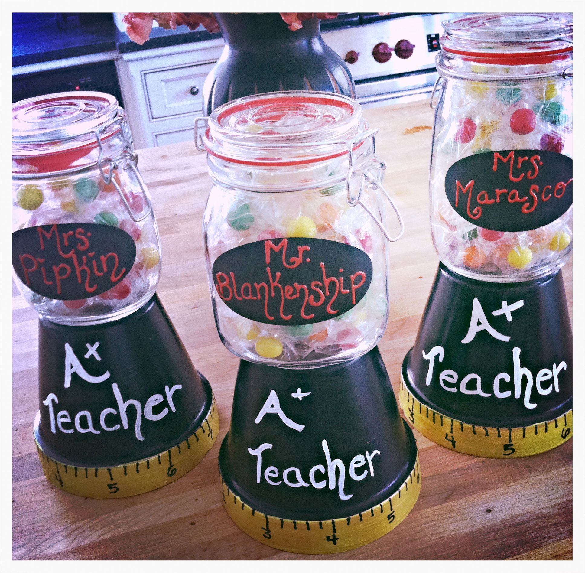 Pin By Rachel Sammons On My Awesome Creations Inspired By Pinterest Home Made Candy Teacher Christmas Gifts Candy Stand