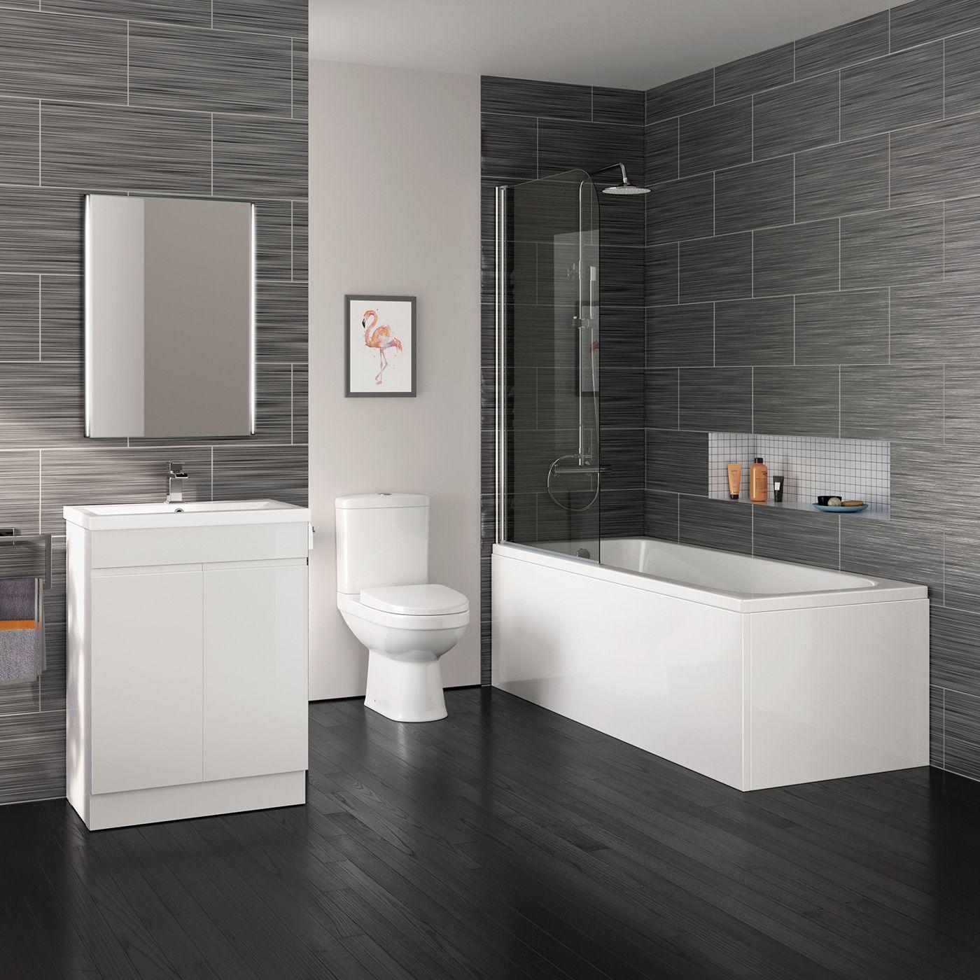 1700mm Lyon Shower Bath Suite Right Hand | Vanity units, Toilet ...