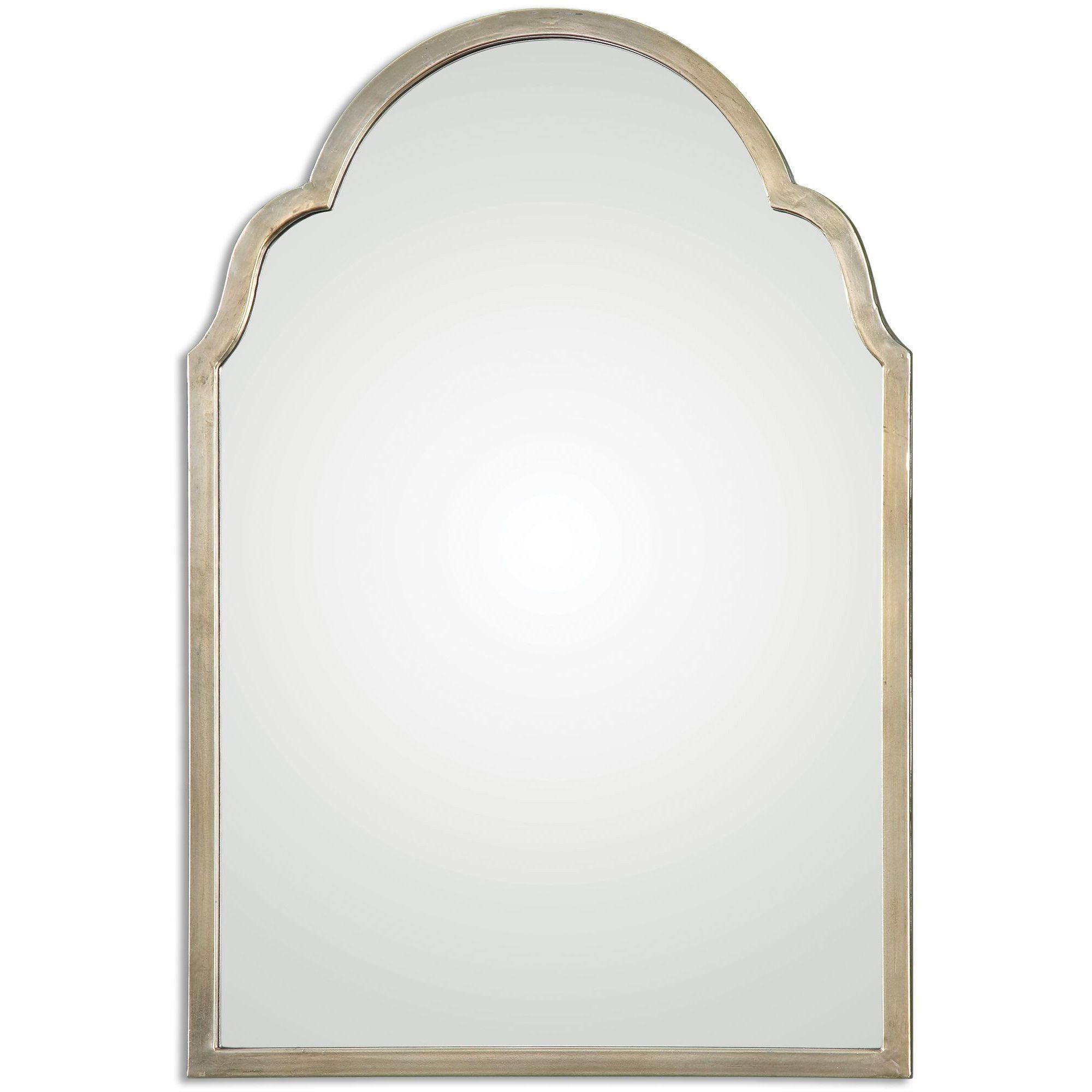 Uttermost Brayden Petite Silver Arch Decorative Wall Mirror
