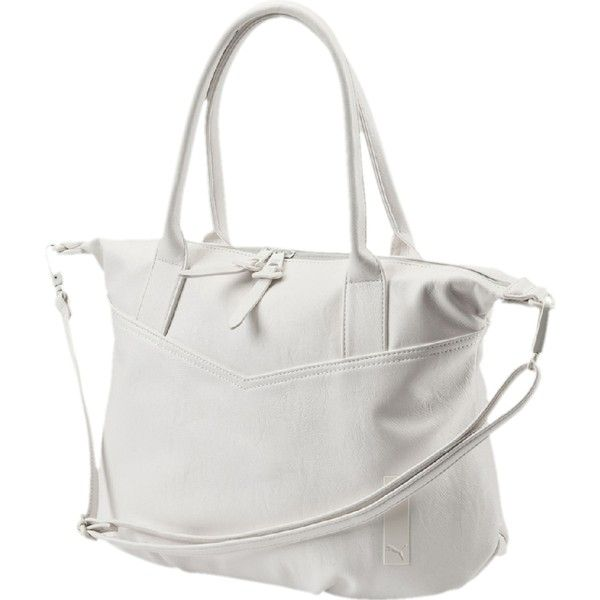 Puma Allure Handbag 39 Liked On Polyvore Featuring Bags Handbags Shoulder Zip Handle Logo Cat Purse Bag And