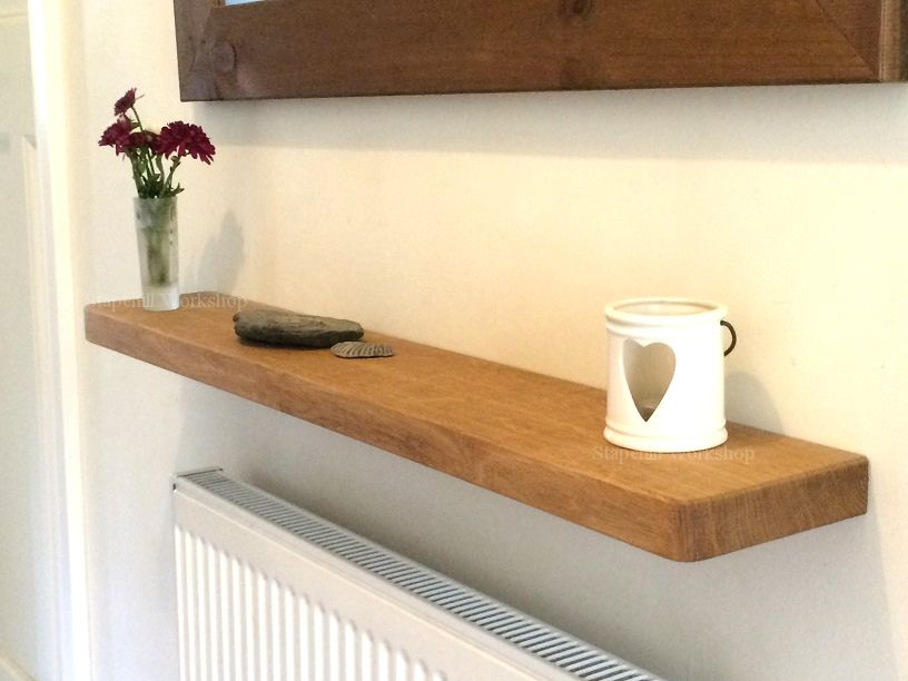 solid oak floating shelves shelf 32cm thick 15cm deep radiator