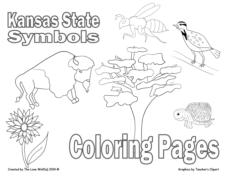 Free Lesson Kansas State Symbols Coloring Pages Go To The Best