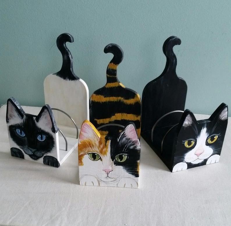 Custom Cat Desk Organizer Cute Desktop Organizer Etsy In 2020 Cat Christmas Ornaments Cute Desk Accessories Custom Cat