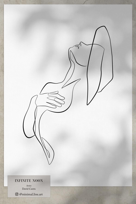 Photo of One-Line Woman Drawing Art Print | Minimal Wall Art Decor