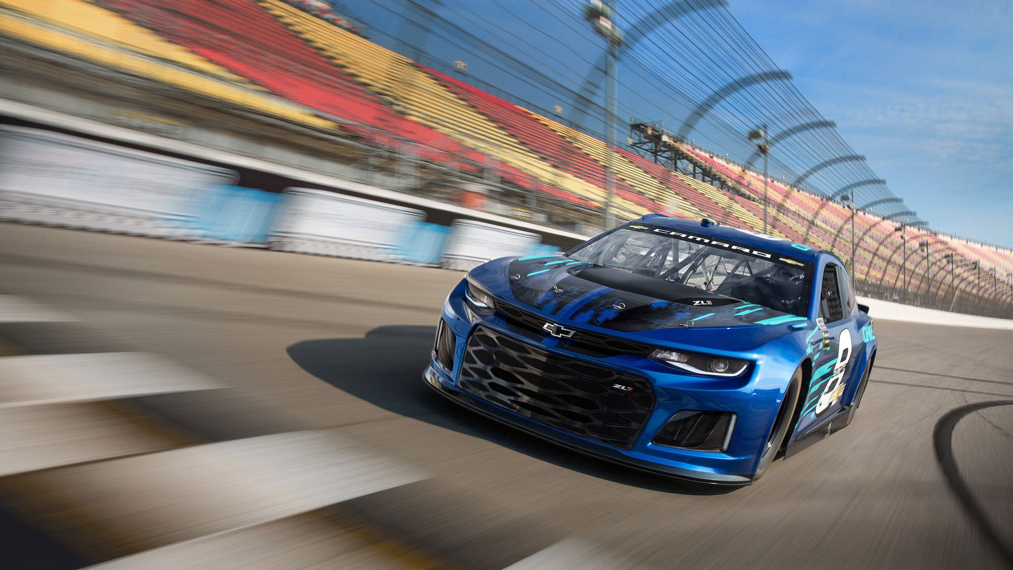 Chevrolet Unveiled Its 2018 Monster Energy Nascar Cup Series Car Thursday At Its Corporate Headquarters In Detroit By Dipping In Camaro Zl1 Chevrolet Camaro Nascar Race Cars