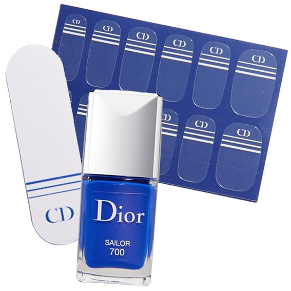 Nail Innovator to Try! For a fun, nautical twist, we love Dior's nail polish and sticker combo ($30; nordstrom.com). The chic set is available in three appropriately named shades (Sailor, Yacht, and Captain) and comes with easy-to-apply striped decals, complete with the brand's signature logo. #InStyle