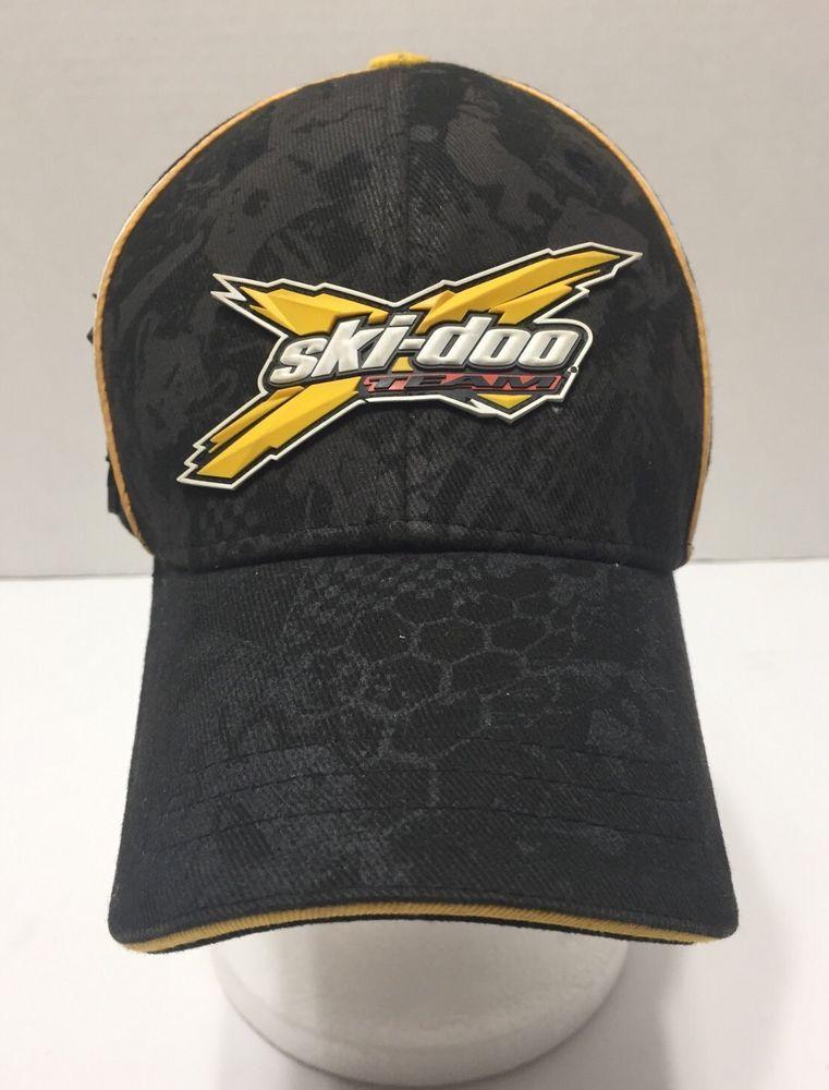Ski Doo Team XPS Rotax Black Baseball Cap Hat 2XL  18f8508e7eb