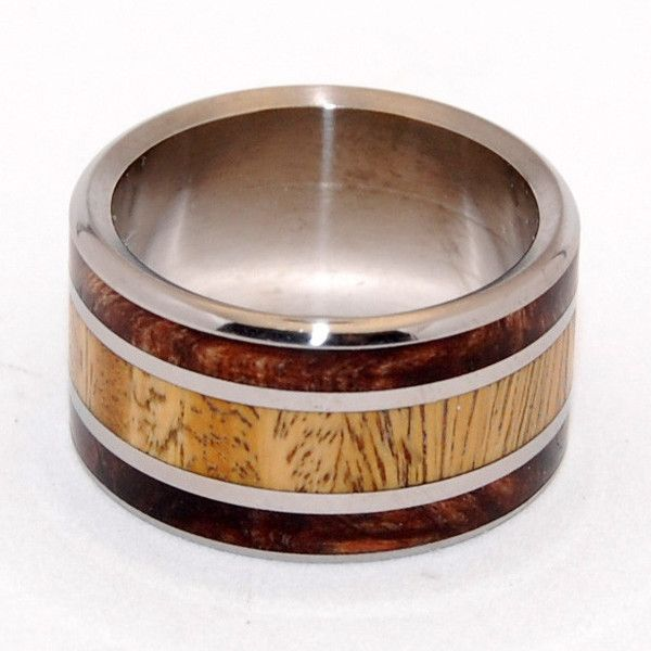 Ancient Wood Titanium Wedding Ring