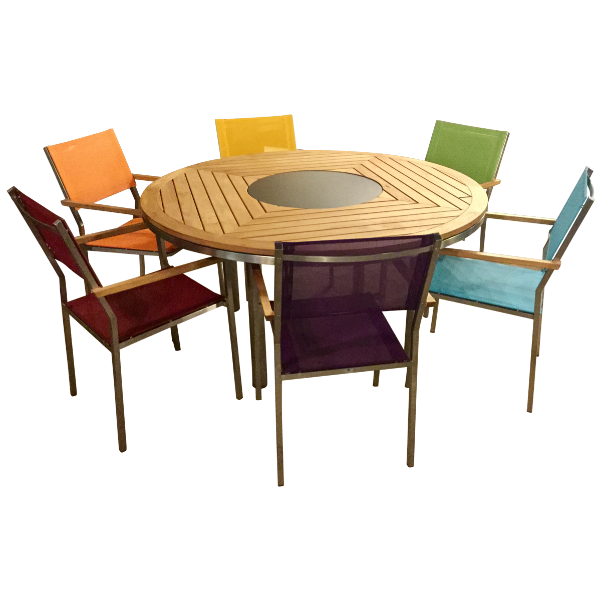 Kore Teak Round Outdoor Dining Table Round Outdoor Dining Table