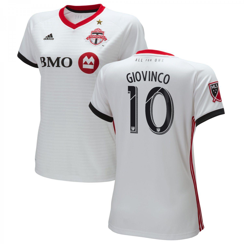 info for 8dd62 3e624 Women's+Giovinco+#10+Toronto+FC+2018-2019+AWAY+MLS+SOCCER+ ...