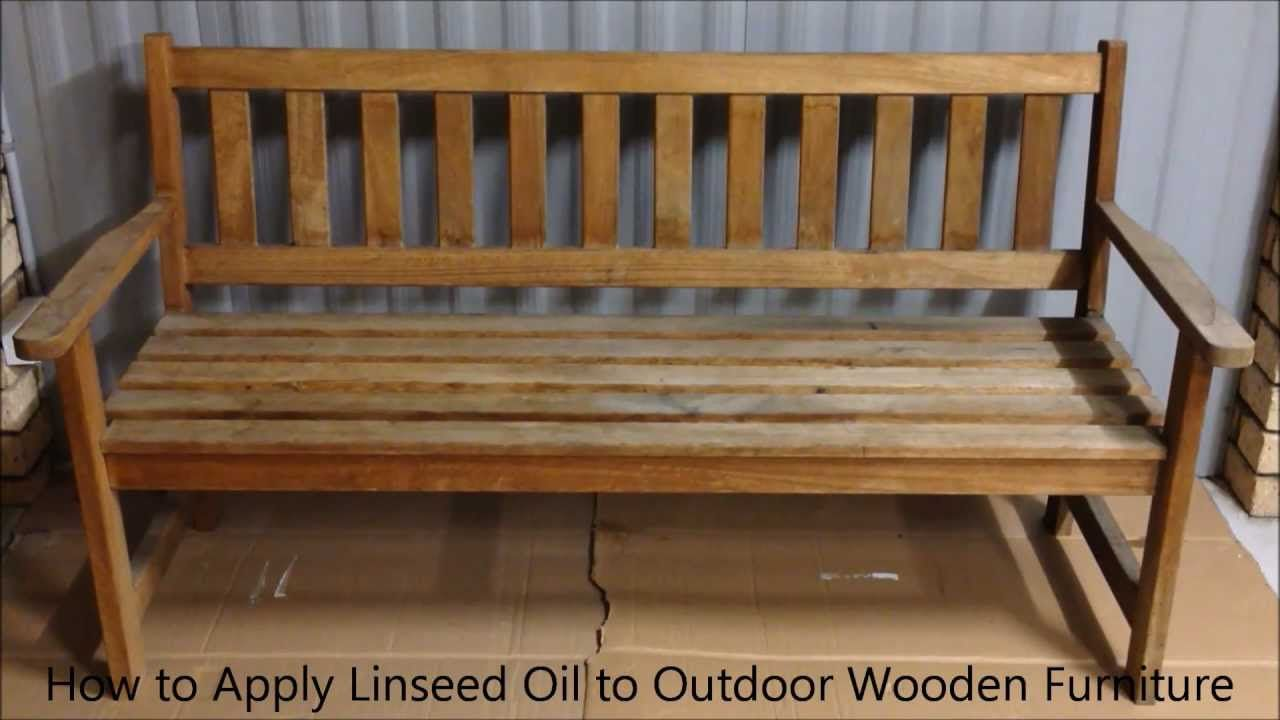 How To Apply Linseed Oil To Outdoor Wooden Furniture For The Home Outdoor Wood Furniture