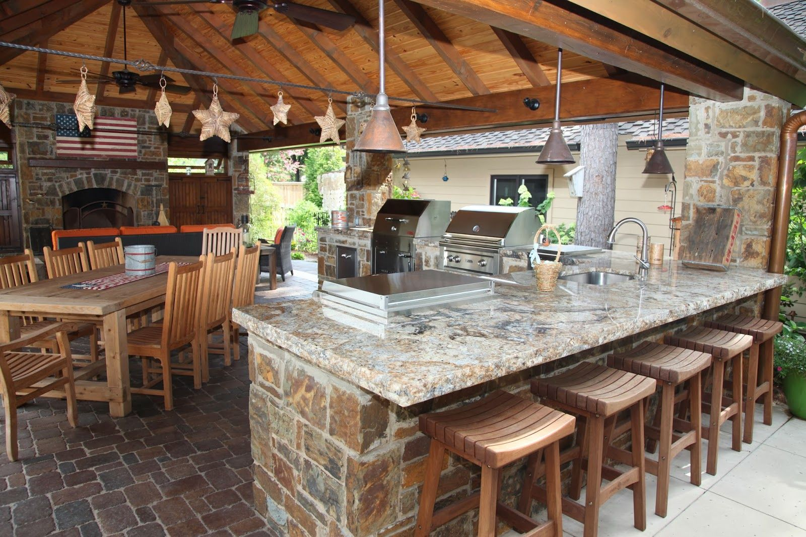 Outdoor Kitchen Designs With Roofs  Outdoor Kitchens In Tulsa Beauteous Outdoor Kitchens And Patios Designs Inspiration