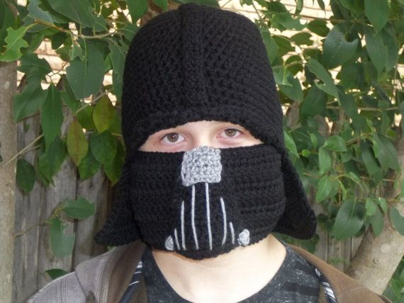 Darth Vader Inspirieren Von Star Wars Von Dinkyscreations247 27 00 Crochet Character Hats Star Wars Crochet Crochet Stars