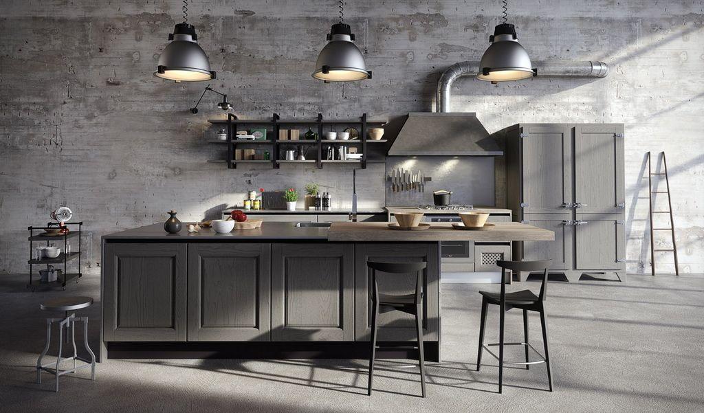 Mix The Styles In Kitchen Design Kuchendesign Modern Urban