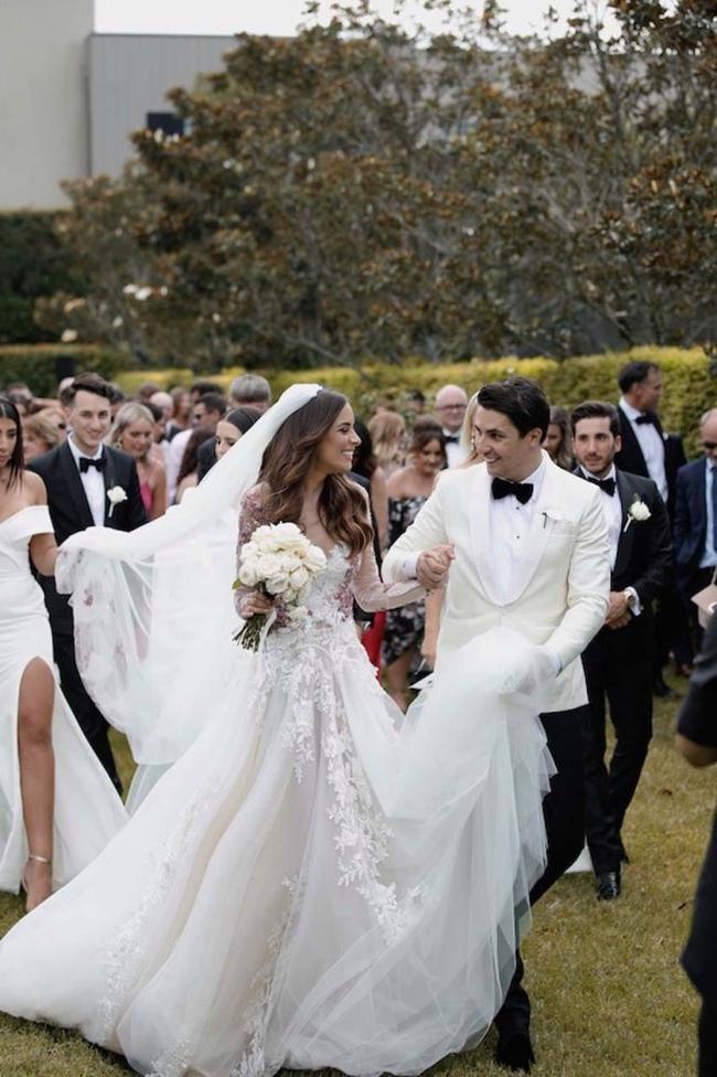 Photo of In the garden wedding of a model in Sydney