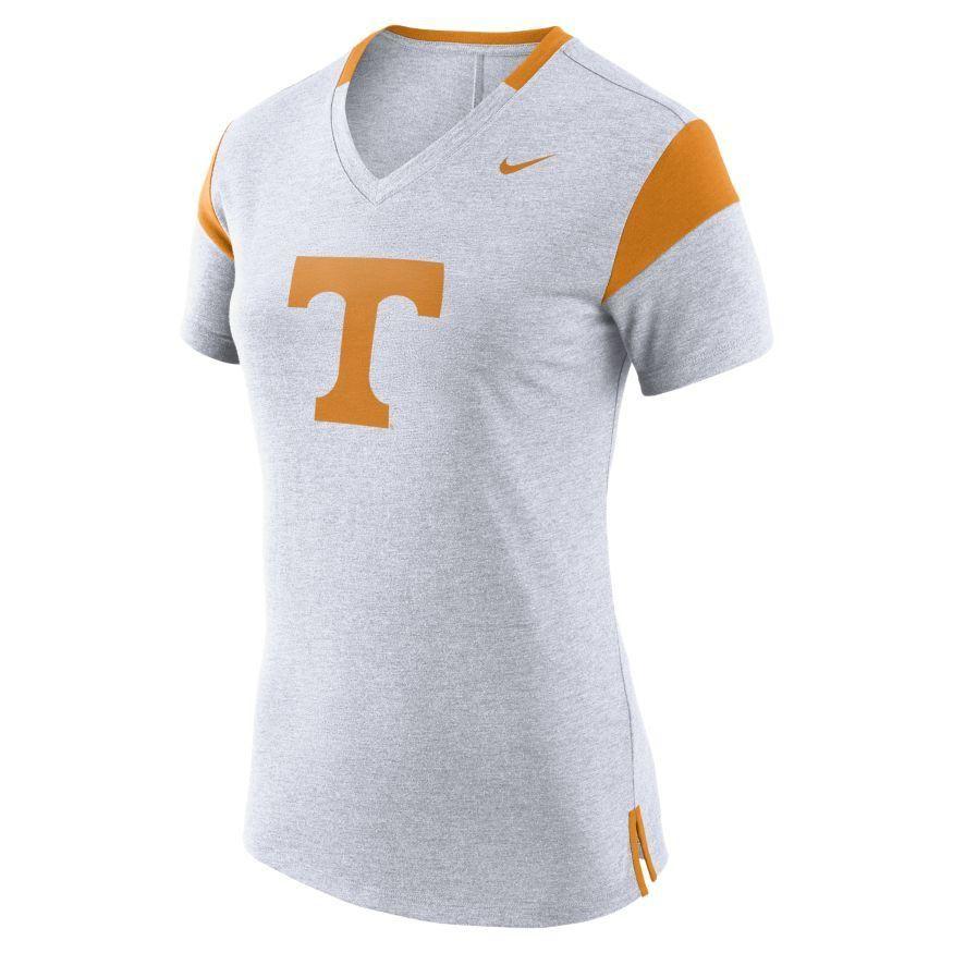 Tennessee Nike Women's V Neck Short Sleeve Fan Top