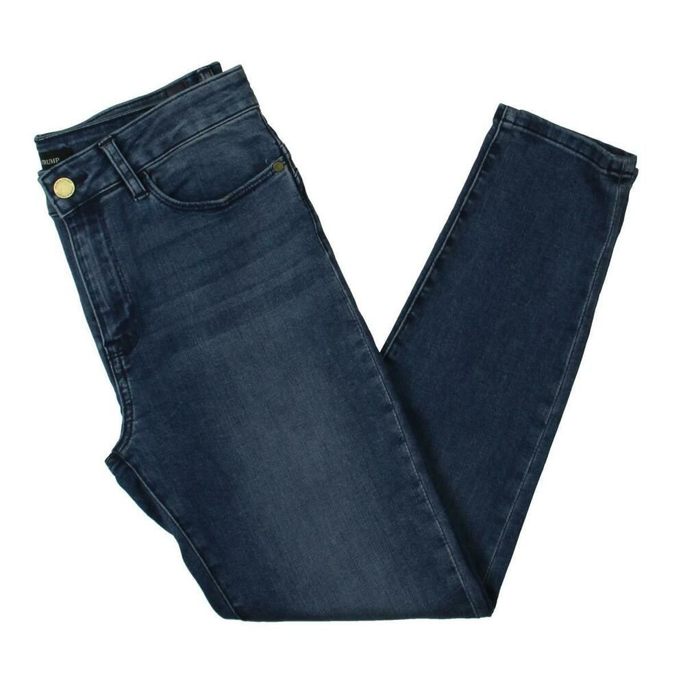 31a1bcfc1df9 Ivanka Trump Womens Blue Medium Wash Mid-Rise Skinny Ankle Jeans 14 BHFO  9366 #