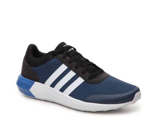 5350e937caf ... low cost mens adidas neo cloudfoam race sneaker black blue 113c0 dfcb4