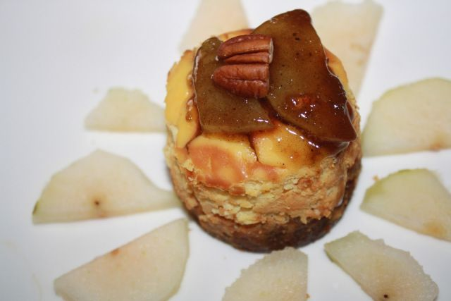Cheesecake – Spéculoos et poires caramélisées  