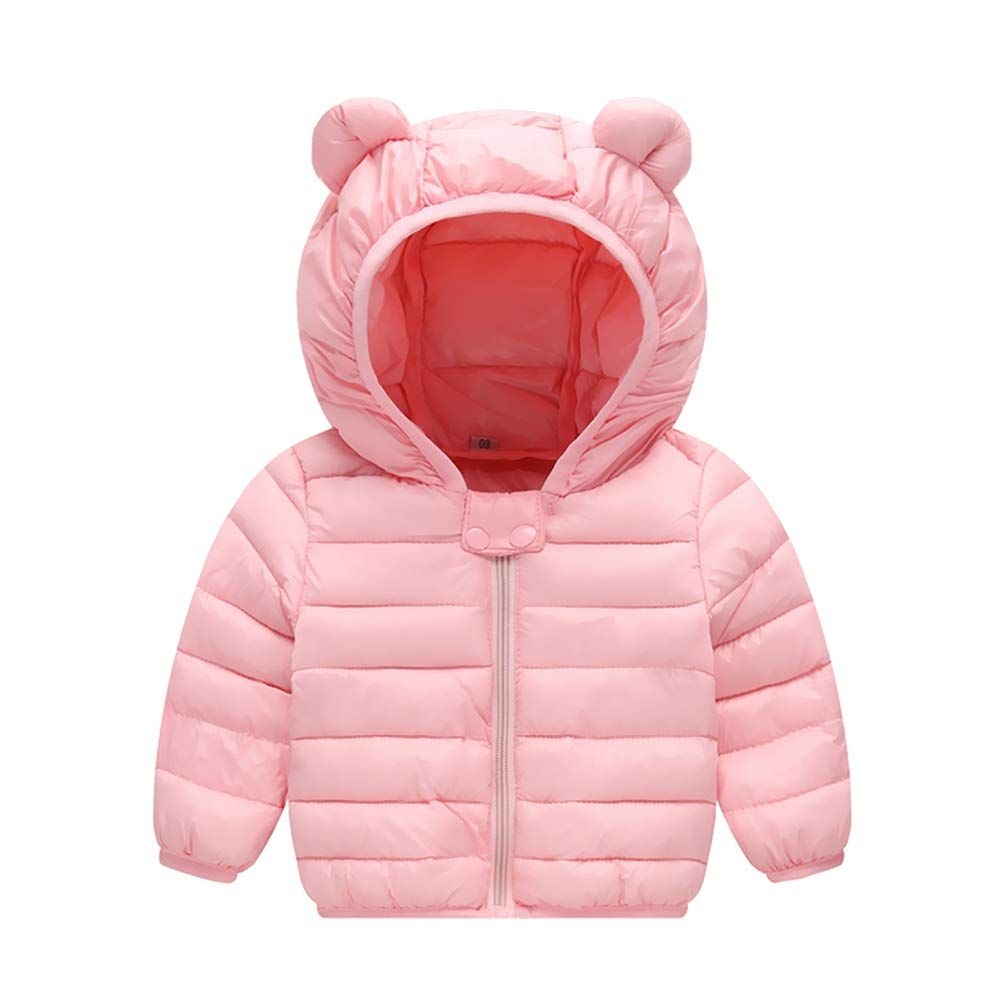 Baby Girls Autumn Rabbit Ear Hooded Coat Winter Warm Jackets Outerwear Snow Wear