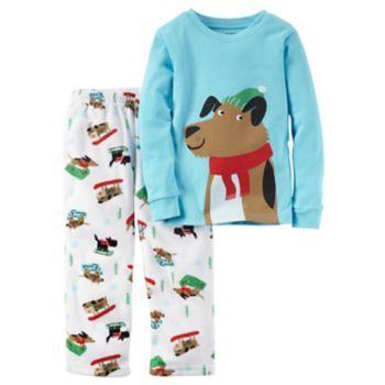 0ec6e9fa39a8 Toddler Boy Carter s 2-pc. Graphic Top   Fleece Pants Pajama Set ...