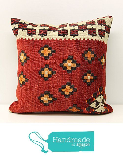 Turkish kilim pillow cover 16x16 inch (40x40 cm) Decorative Kilim pillow cover Room Decor Ethnic Pillow cover Kilim Cushion Cover from Kilimwarehouse http://www.amazon.com/dp/B01FUBZ1DE/ref=hnd_sw_r_pi_dp_Iihpxb1ZEKF2X #handmadeatamazon