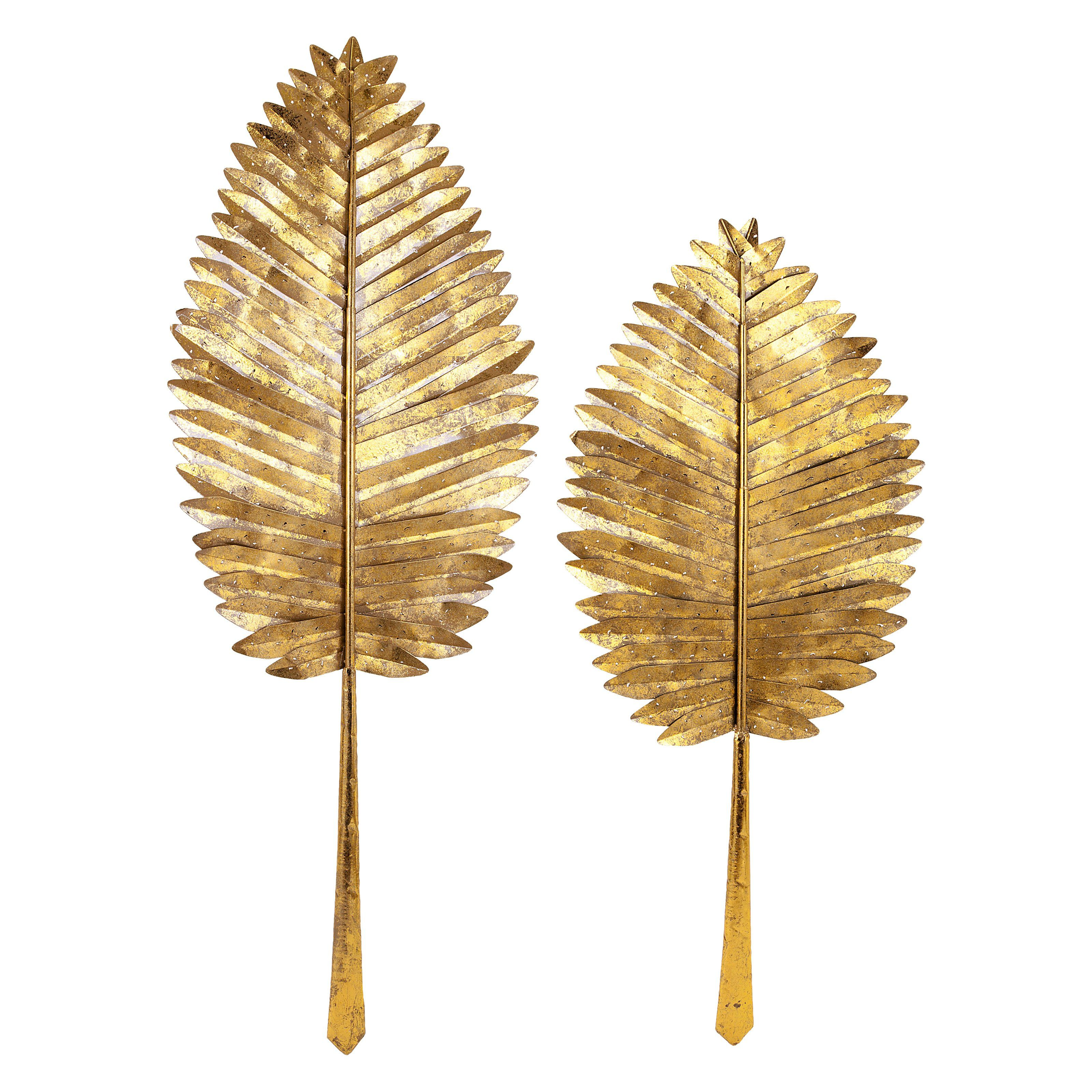 IMAX Milano Gold Leaf Wall Leaves - Set of 2 - 72166-2 | Products ...