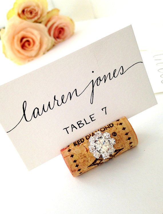 Rustic Glam Wedding Decor Place Card Holders Name Card Holder Place