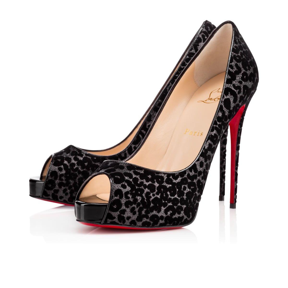 christian louboutin glitter slingback heel black