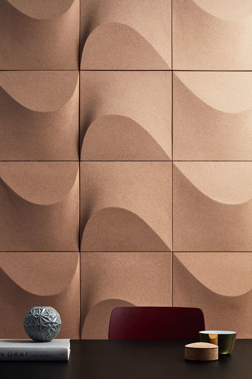 Internationally Acclaimed Designer Creates A Wall Panel Made Of Cork For Abstracta Scandinaviandesign Com Acoustic Wall Panels Wall Design Wall Paneling