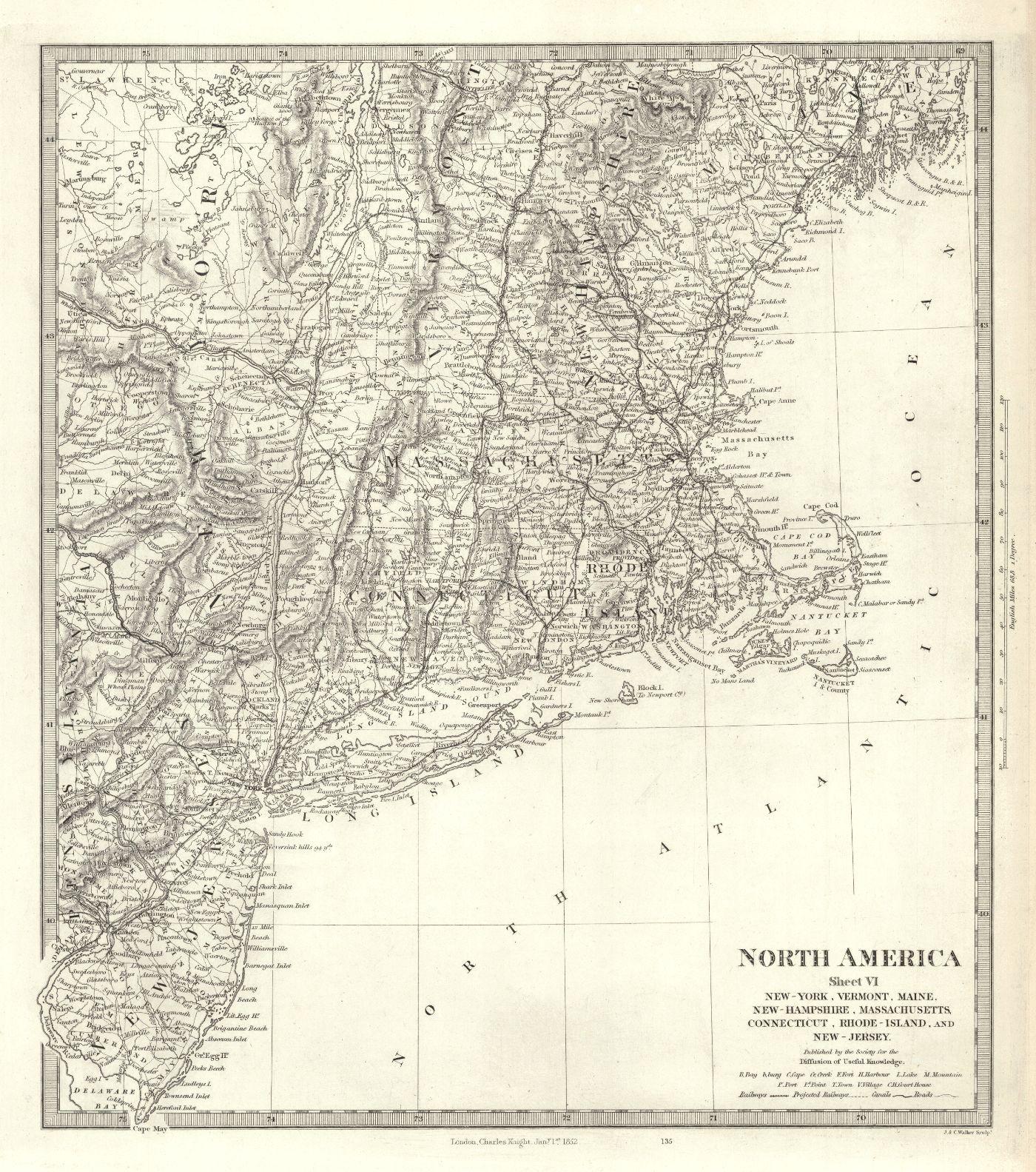 North America Sheet VI New-York, Vermont, Maine, New