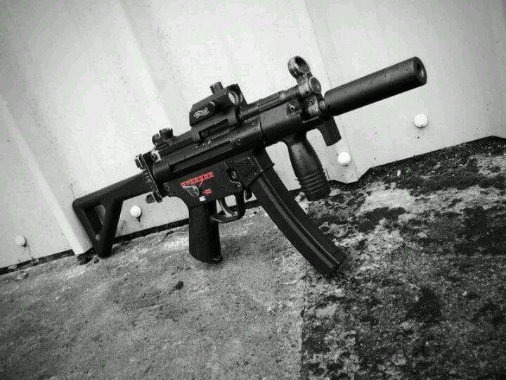 Hk MP5K with suppressor. | BallisticBrothers | Guns ...