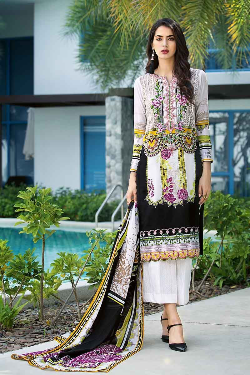 98485406aa Gul Ahmed Summer 2019 Essential Lawn Collection 3 PC CL-596 A SKU  W-FB-SM-19-195592