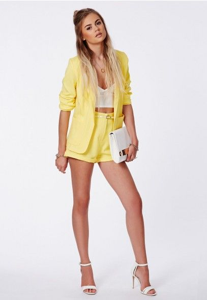 Neela Tailored Belted Shorts - Shorts - Missguided