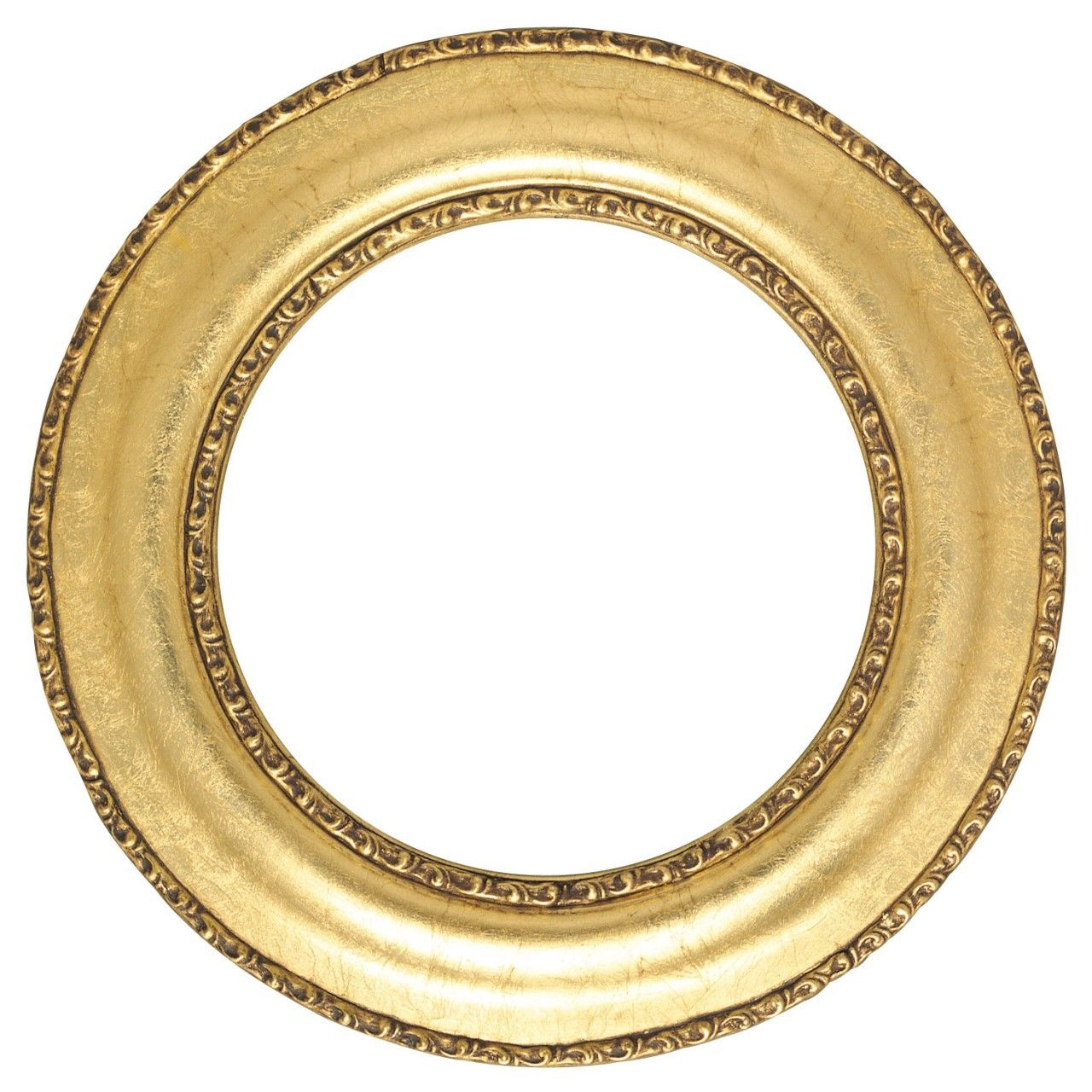 Round Frame In Gold Leaf Finish Antique Gold Picture Frames With Ornate Decoration Round Picture Frames Gold Picture Frames Picture Frame Shop