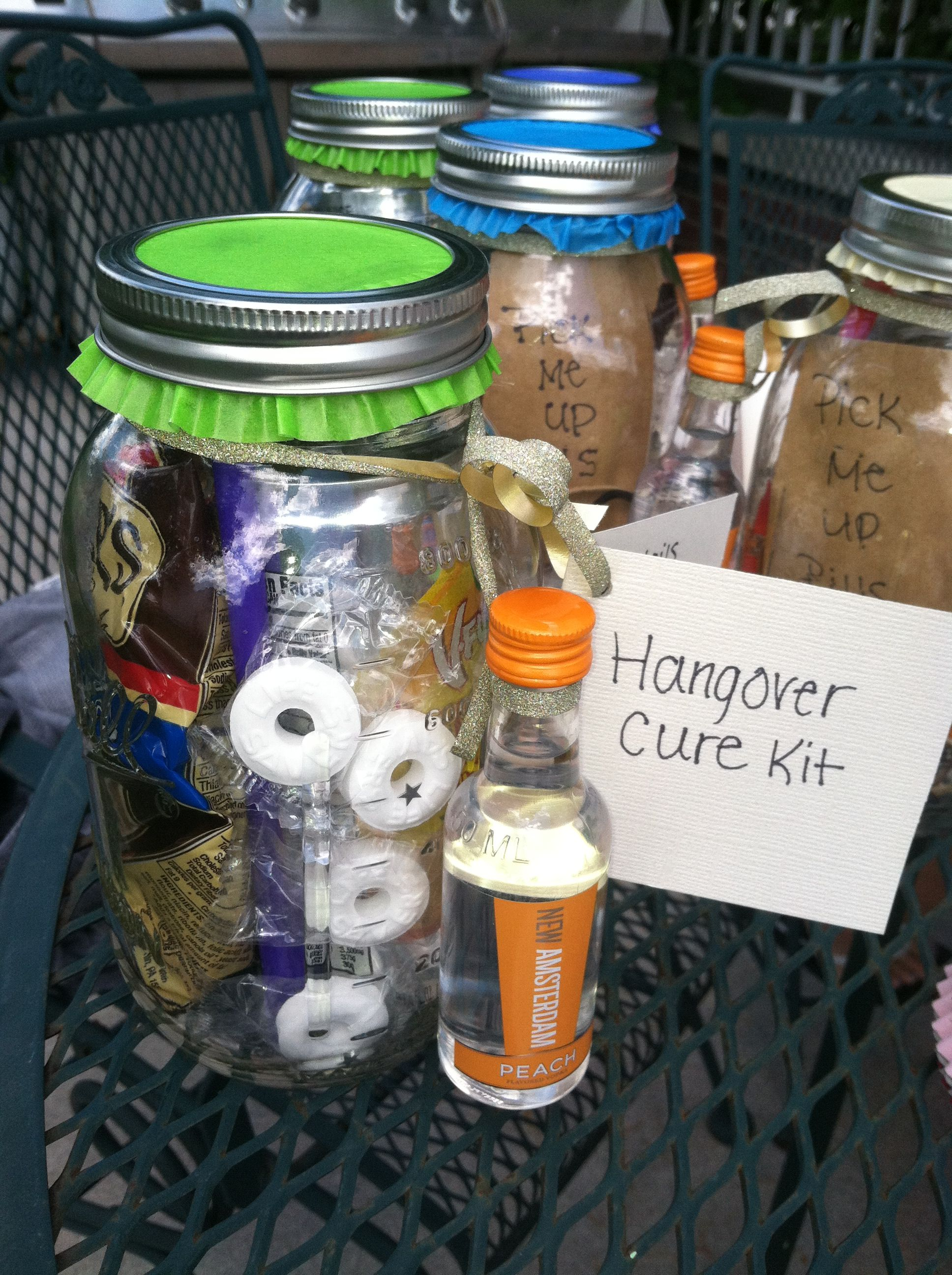 Bachelorette party gift hangover cure kits made in for Morning cocktails with vodka