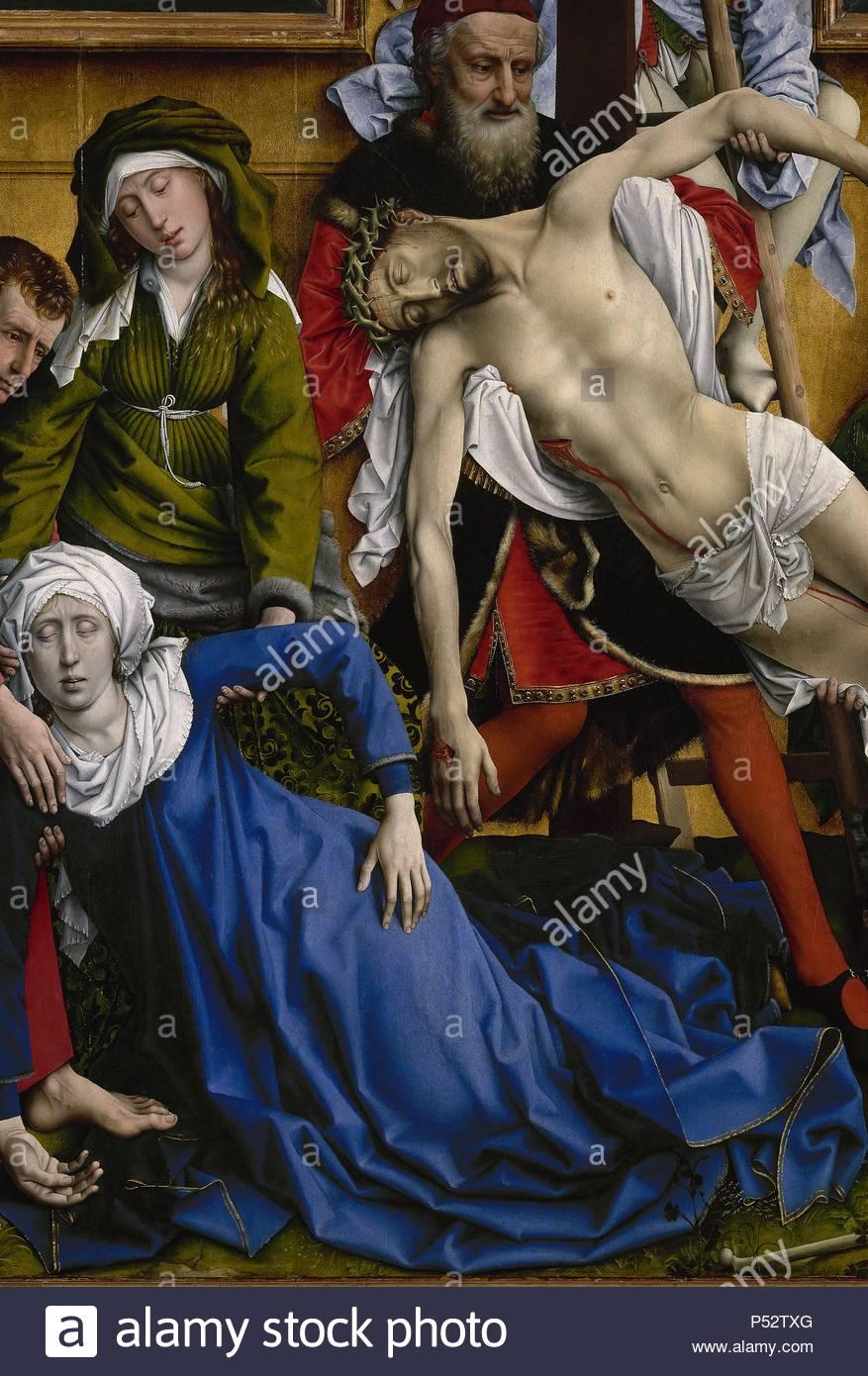 El Descendimiento De La Cruz Detalle C 1435 óleo Sobre Panel Autor Rogier Van Der Weyden C 1399 1464 Cómo Dibujar Retratos Fotografía De Stock Museos